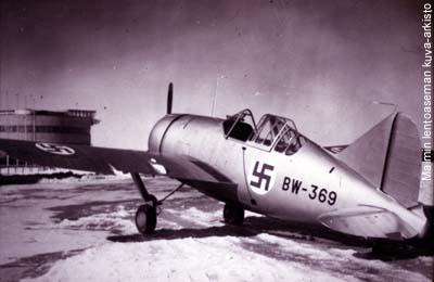 Brewster fighters were brought to Malmi in late winter 1940. They didn�t quite make it to the Winter War.