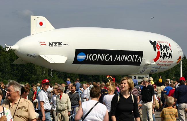 Thousands of spectators spent a nice summer day at Malmi Airport on Public Day 24 July 2004. This time, the public was allowed much closer to the airship